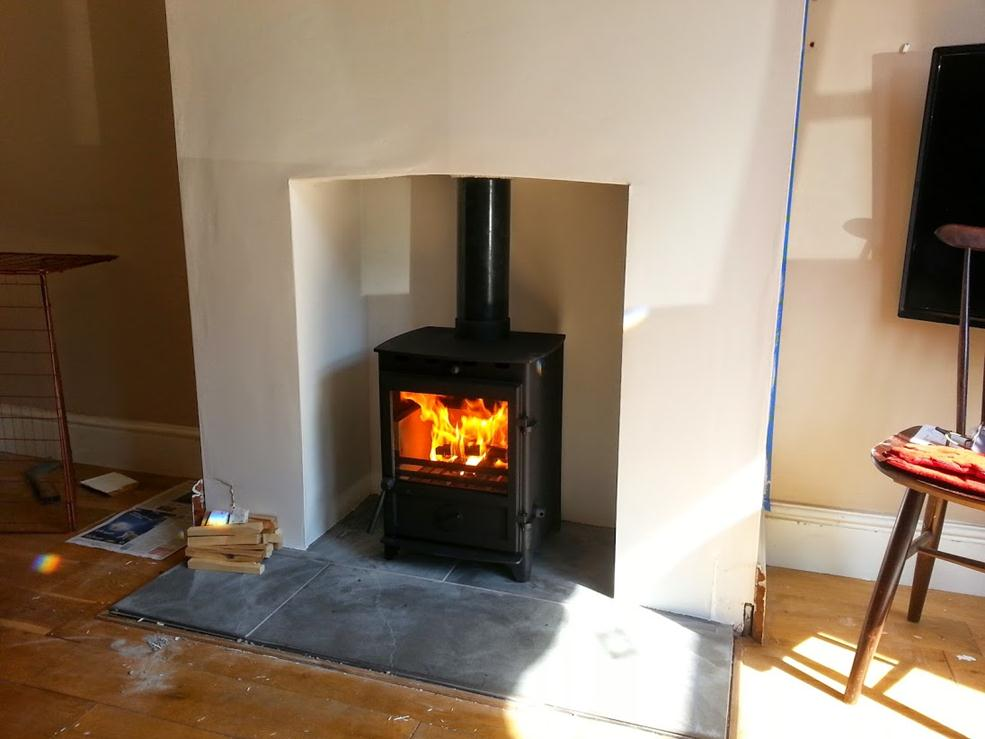 All done, hearth laid by customer